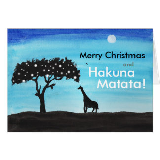 Safari Giraffe Christmas Card