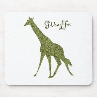 Safari giraffe mouse pad