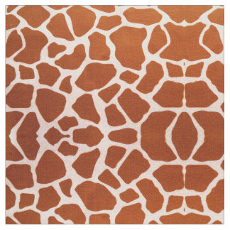 Safari Giraffe Pattern Fabric