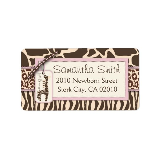 Safari Girl Address Label