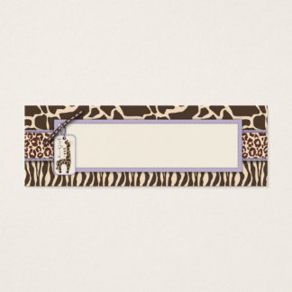 Safari Girl LAV Skinny Gift Tag 2