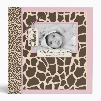 Safari Girl Photo Album Vinyl Binders