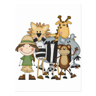 Safari Girl T-shirts and Gifts Postcard
