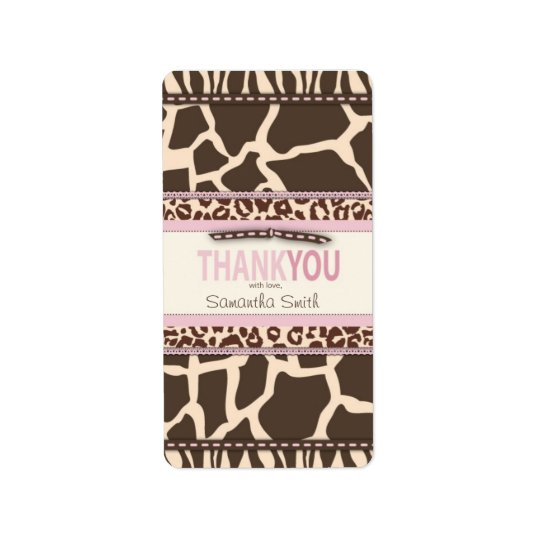 Safari Girl TY Mini Candy Bar Label