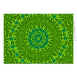 Safari green mandala, note card