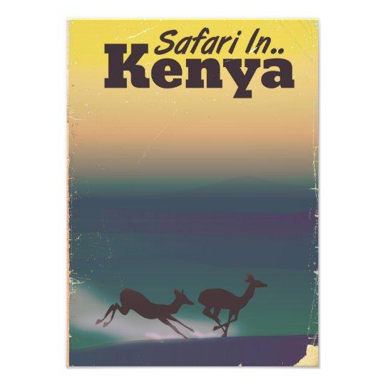 Safari in Kenya vacation poster Photo Art