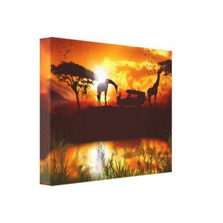 Safari in the Jungle Canvas