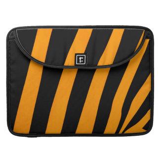 Safari Inspired Orange and Black Stripes Sleeves For MacBooks