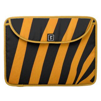 Safari Inspired Orange and Black Stripes Sleeves For MacBook Pro