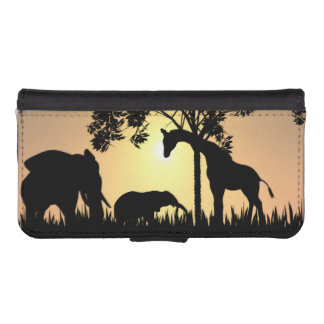 Safari iPhone and Galaxy wallet case iPhone 5 Wallet Case