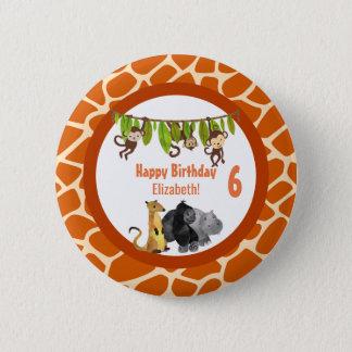 Safari Jungle Animal Theme Birthday 2 Inch Round Button