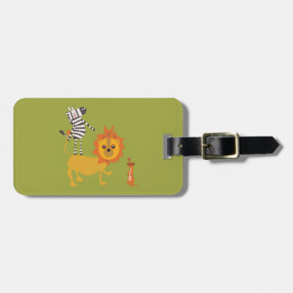 Safari Jungle Animal Unique Luggage Tag