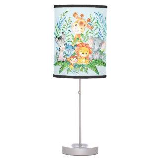 Safari Jungle Animals Baby Boys Nursery Lamp