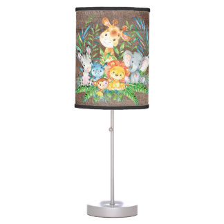 Safari Jungle Animals Baby Girl | Boy Nursery Lamp