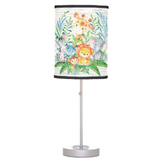 Safari Jungle Animals Baby Girl   Boy Nursery Lamp