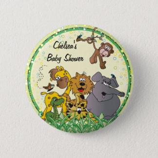 Safari Jungle Baby Animals | Baby Shower 2 Inch Round Button