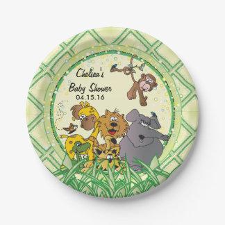 Safari Jungle Baby Animals - Baby Shower Paper Plate