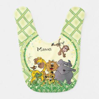 Safari Jungle Baby Animals Nursery Theme Bib