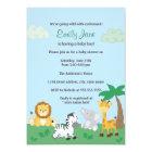 Safari Jungle Baby Boy Shower Invitation