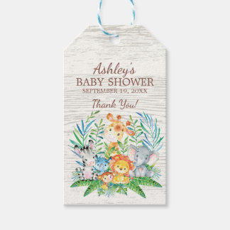 Safari Jungle Baby Shower Favor Gift Tag