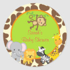 Safari Jungle Baby Shower favour stickers Tags