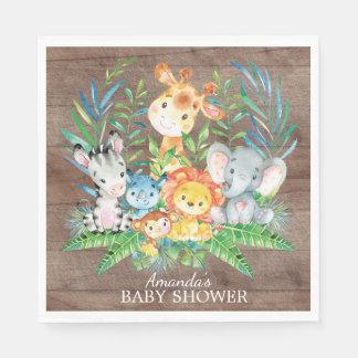 Safari Jungle Baby Shower Paper Napkins