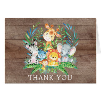 Safari Jungle Baby Shower Thank You Note Card