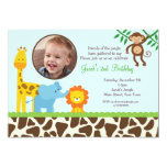 Safari Jungle Photo Birthday Invitations