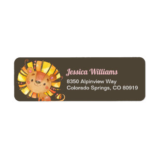 Safari Lion Return Address Label