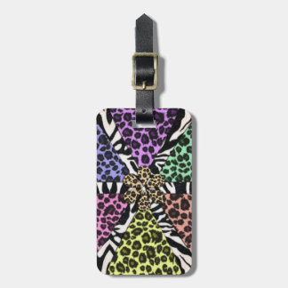 Safari Multi Color Prints Luggage Tag