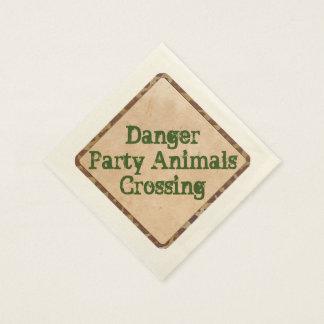 Safari Party Napkins Danger Paper Napkin