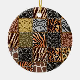 Safari patchwork Circle Ornament