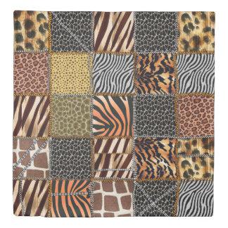 Safari patchwork Queen Size Duvet Cover