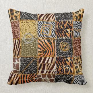 """Safari patchwork Throw Pillow 20"""" x 20"""""""