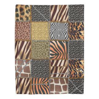Safari patchwork Twin Size Duvet Cover