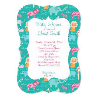 Safari Print Baby Shower Card