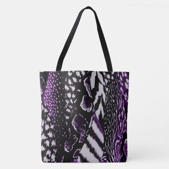 Safari Purple Tote Bag