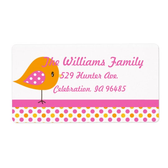 Safari Sweetness Address Label Birdie