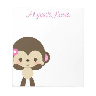 "Safari Sweetness Monkey Notepad  5.5"" x 6"""