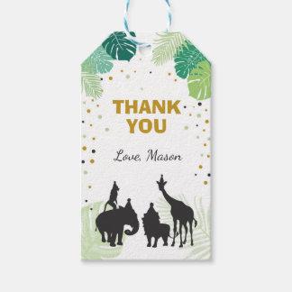 Safari thank you favor gift tag Jungle Zoo Animals