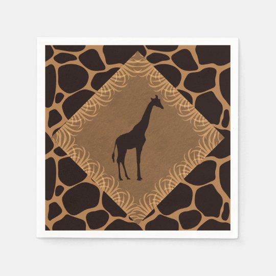 Safari Theme Giraffe Paper Napkins