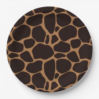 Safari Theme Giraffe Print Paper Plate