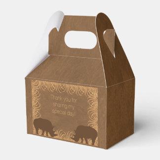 Safari Theme Rhino Party Favor Box