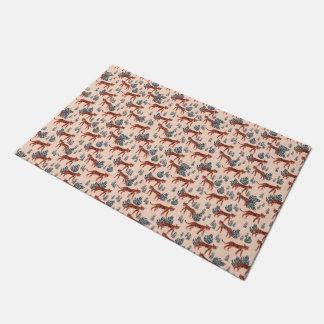 Safari Tiger Blush Coral Girls / Andrea Lauren Doormat
