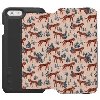 Safari Tiger Blush Coral Girls / Andrea Lauren Incipio Watson™ iPhone 6 Wallet Case
