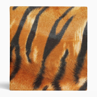Safari Tiger Stripes Print Vinyl Binder