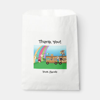 Safari Train Animal Birthday Thank You Goodie Bag