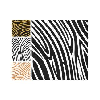 Safari zebra : Authors drawing on canvas