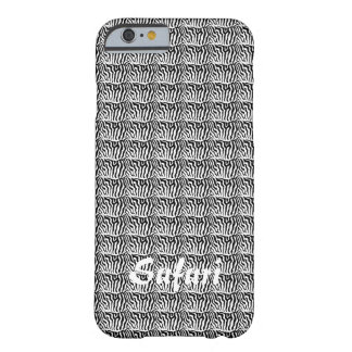 Safari, Zebra horse stripes pattern black & White Barely There iPhone 6 Case