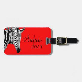 Safari Zebra Luggage Tag